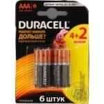 Battery Duracell aaa 6pcs