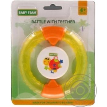 Игрушка-погремушка Baby Team с прорезывателем Кольцо