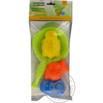 Игрушка Baby team Поймай плавник для ванны набор