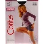 Conte Elegant Contour Nero Tights for Women 40 den size 2