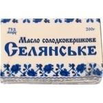Масло Селянское сладкосливочное 73% 200г