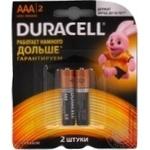 Батерейка Durasell Basic AAA алкалінова 1.5V LR03 2шт