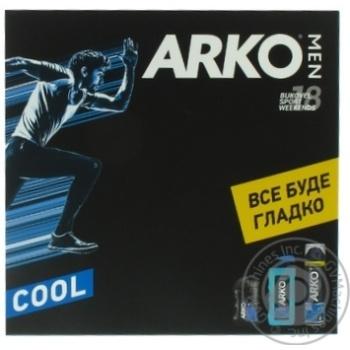Набор ARKO Men Cool гел д/б+гел д/душ+бал п/б -30% шт