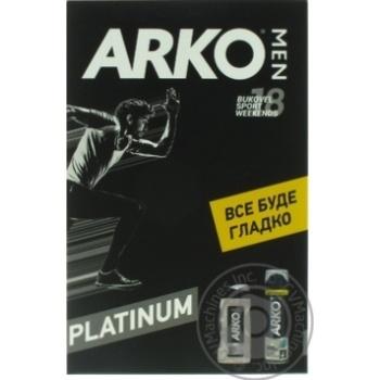 Набір  Arko Men Гель д/гоління 200мл + Гель д/душу 250мл - купити, ціни на МегаМаркет - фото 3