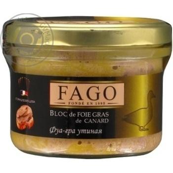 Паштет Fago фуа-гра утиная 180г
