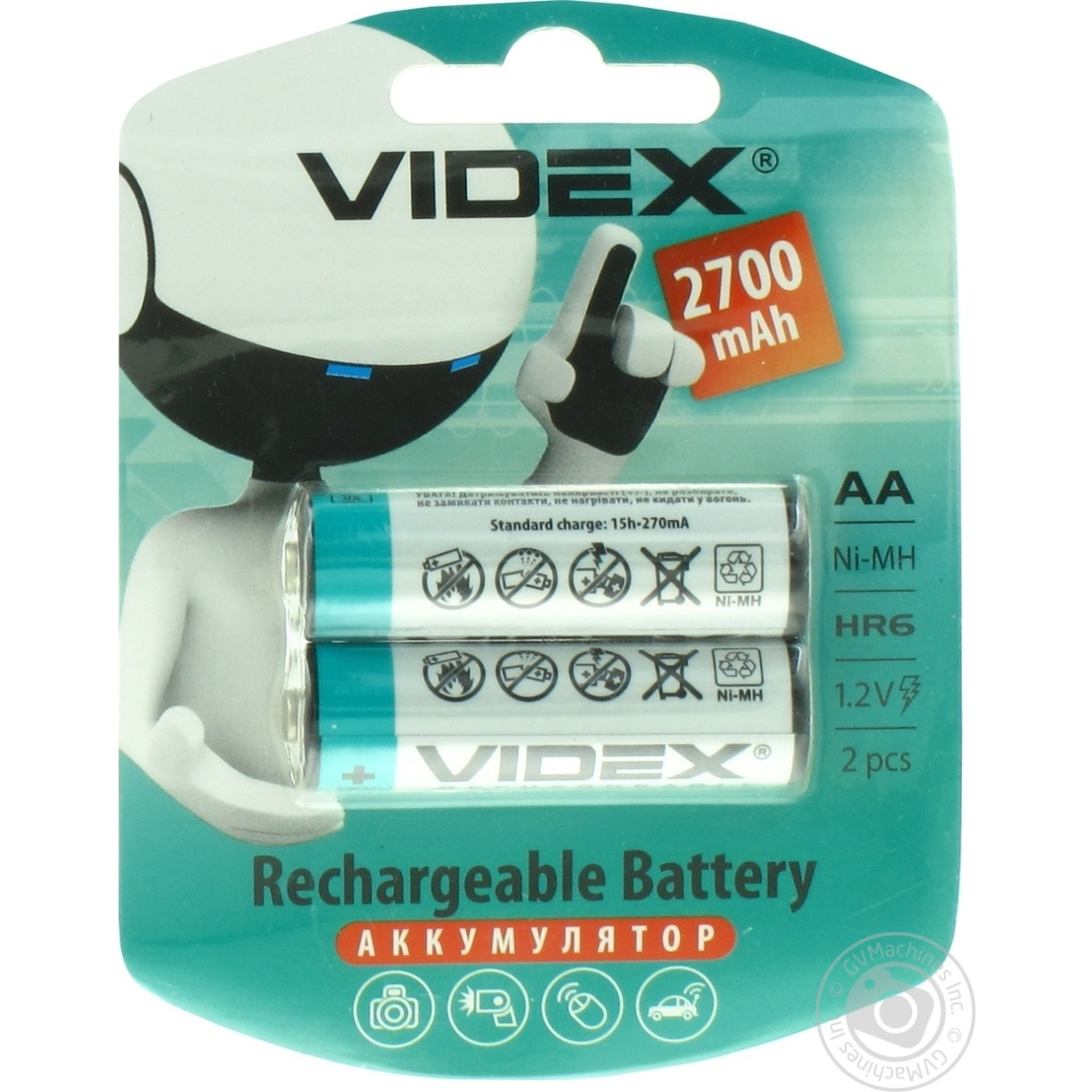 VIDEX batteries and accumulators 58