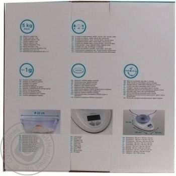 Весы кухонные Qilive EK5850 - купить, цены на Ашан - фото 4