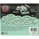 Набір чорного шоколаду подарунковий Shokopack Дякую 20*5г 100г - купити, ціни на МегаМаркет - фото 2