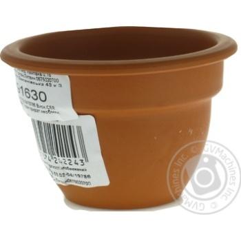 Горшок Кампана керамический 150мл - купить, цены на Ашан - фото 2