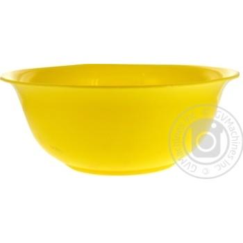 Салатник Полипласт Шафран большой (цвет в ассортименте) - купить, цены на Ашан - фото 3