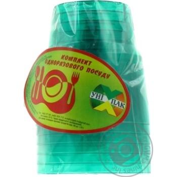 Стакан Унипак пластиковый одноразовый 6шт - купить, цены на Ашан - фото 3