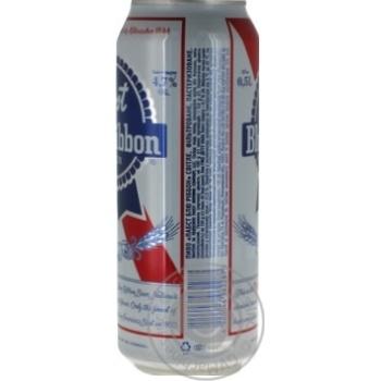 Пиво Pabst Blue Ribbon светлое фильтрованное пастеризованное 4,7% 0,5л - купить, цены на Фуршет - фото 2