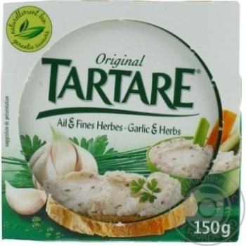 Сыр Tartare с чесноком и травами 150г