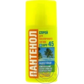 Масло для загара Биокон Пантенол для безопасного загара водостойкий SPF-45 95мл