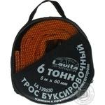 Трос буксировочный Lavita 6т 60мм*5м - купить, цены на Ашан - фото 1