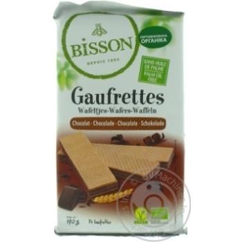 Вафли Bisson органические с шоколадом 190г