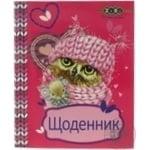 Щоденник шкільний А5 дизайн для дівчат м'яка обкладинка, скоба УФ-лак ZB17.1310 ZiBi 40 аркушів