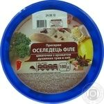 Auchan Preserves Herring fillet pieces in oil with aroma of fragrant herbs 180g