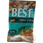 Арахис Best nuts жареный соленый 80г