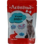 Food Leopold rabbit for cats 100g