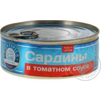Сардины Ventspils в томатном соусе 240г - купить, цены на Ашан - фото 3
