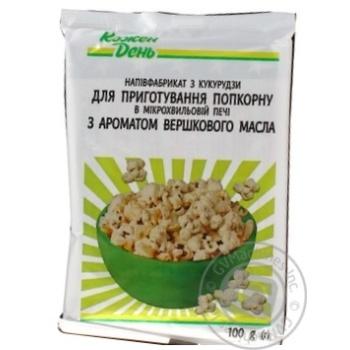 Popcorn Auchan Kozhen den 100g - buy, prices for Auchan - photo 1