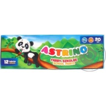 Гуаш Astrino 12кольорів 20мл