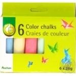 Мел цветной Auchan 6шт