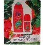 Набір для жінок Кавунотерапія Fa Дезодорант роликовий Fa Ритми островівFiji Dream Аромат Кавуна і Іланг-ілангу 50мл+Гель для душа Fa Ритмиостровів Fiji Dream аромат Кавуна і Іланг-ілангу 250м