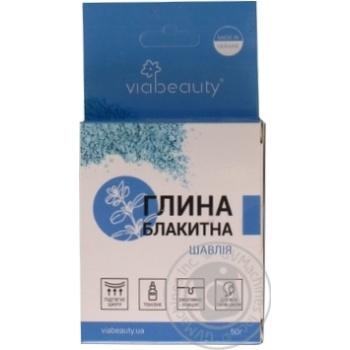 Глина голубая Viabeauty пшеница и шалфей 50г