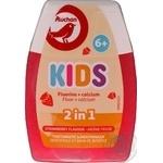 Зубная паста с ополаскивателем Auchan Kids 2в1 для детей с 6 лет 75мл