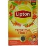 Чай чорний байховий листовий Lipton tropical fruit зі шматочками фруктів та пелюстками квітів 80 г
