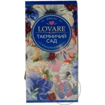 Чай чорний Lovare Таємничий Сад з пелюстками квітів, малиною і ваніллю 24шт 2г - купити, ціни на Novus - фото 2