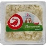 Cottage cheese Auchan packed 9% 200g