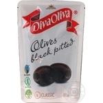 Маслины черные Diva Oliva без косточки 200мл - купить, цены на Фуршет - фото 1