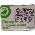 Spread Auchan sweet cream 72.5% 200g