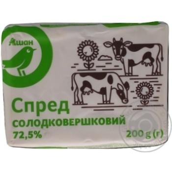 Спред Ашан сладкосливочный 72,5% 200г - купить, цены на Ашан - фото 2