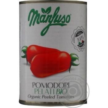Томаты Manfuso целые очищенные органические 400г