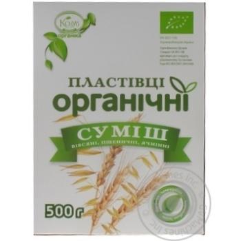 Пластівці Козуб суміш органічні 500г