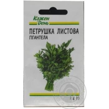 Семена Каждый День Петрушка листова Гигантелла 2г - купить, цены на Ашан - фото 1