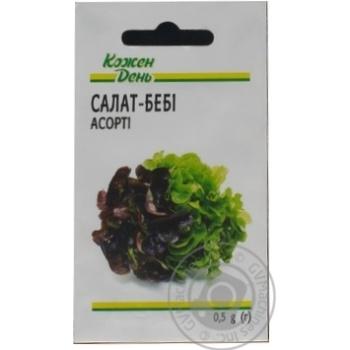 Kozhen Den Assorti Baby Lettuce Seeds 0,5g - buy, prices for Auchan - photo 1