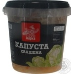 Vegetables cabbage Chudova marka pickled 900g bucket