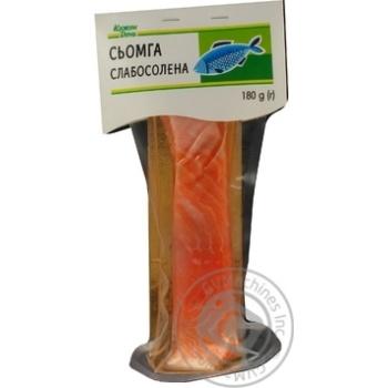 Сёмга Каждый день филе-кусок слабосоленая на шкуре 180г