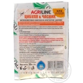 Удобрение Агросвит Agriline Лук и чеснок 30г - купить, цены на Ашан - фото 2