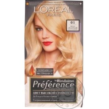 Краска для волос L'oreal Recital Preference №01 Светло-светло-русый натуральный