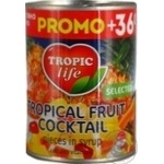 Fruit Tropic life Tropical canned 425g can