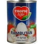 Fruit rambutan Tropic life canned 565g can