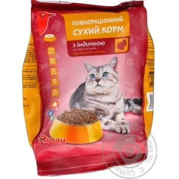АШАН КОРМ СУХИЙ ІНДИЧКА 400 Г