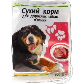Kozhen Den With Meat Dry For Dogs Food 500g - buy, prices for Auchan - image 2
