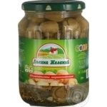 Mushrooms cup mushrooms Dolina jelaniy pickled 720g glass jar
